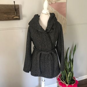 Mossimo supply co. Grey hooded peacoat size XL